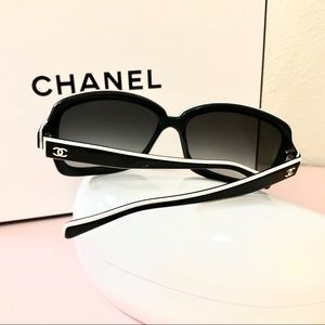 CHANEL 5143 Sunglasses, Black & White